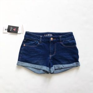 Guess NWT blue studded logo soft jegging shorts 8Y